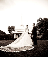 Bride and Groom Portrait in Ft. Lauderdale